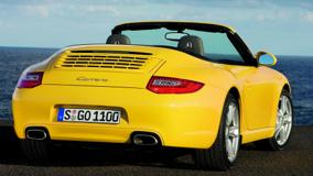 Back Pose Of Porsche 911 Carrera S In Yellow
